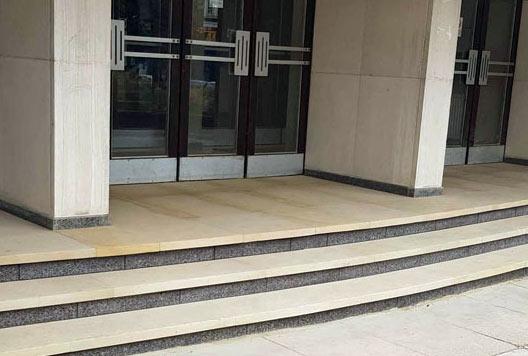 Office stone steps, London