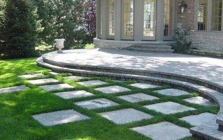 Lawn paving and steps
