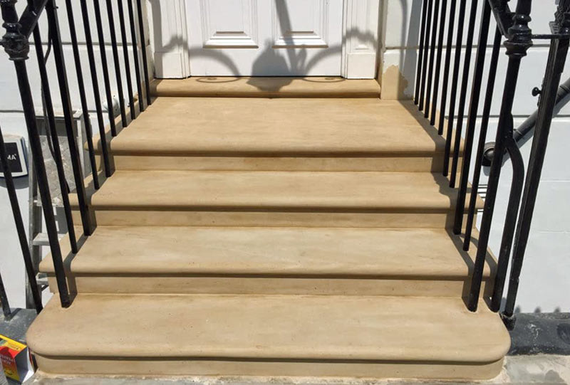 Stone steps restoration Knightsbridge