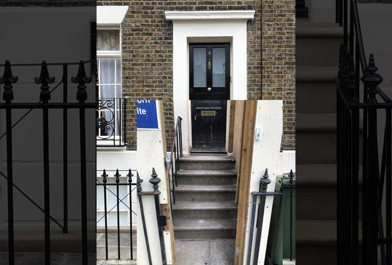 Entrance before renovation