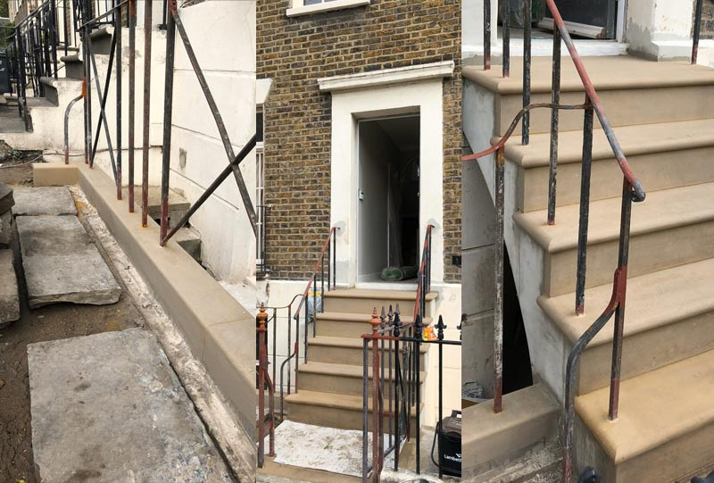 Photos of the terraced home stone project