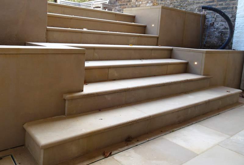 Basement steps after