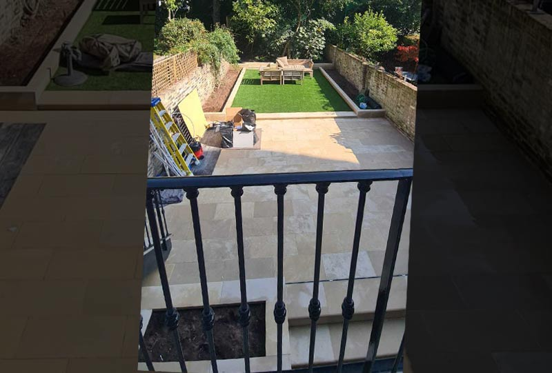 Garden stone paving after image