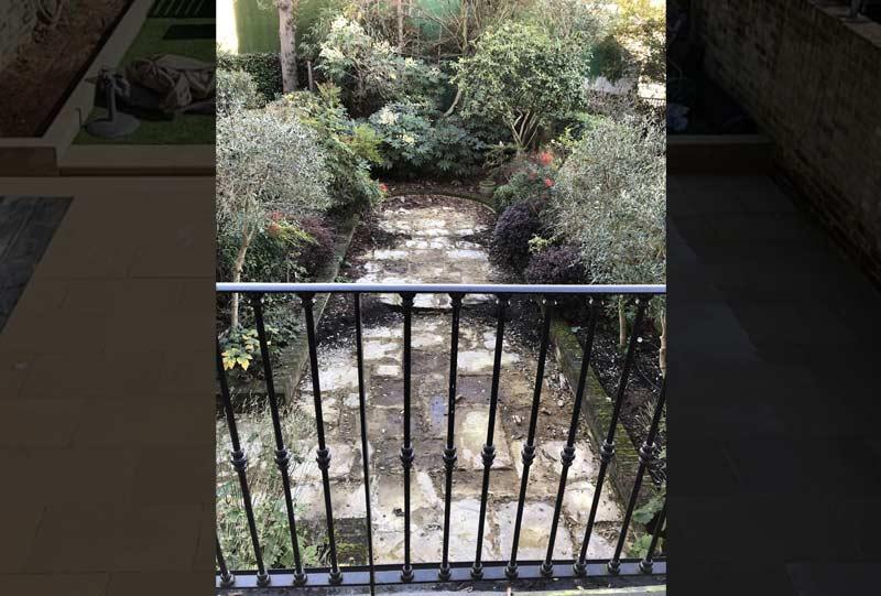 Garden stone paving before image