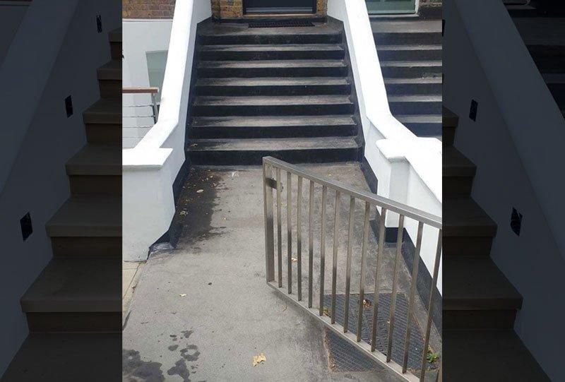 Front door steps