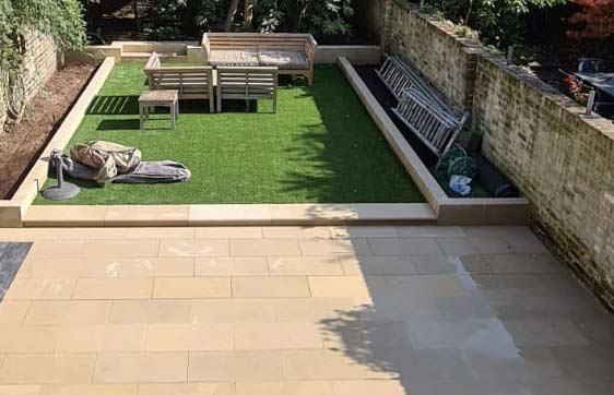 Stone paving in London