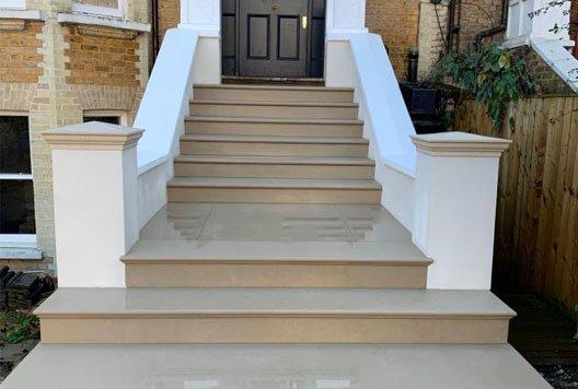 New stone steps for Hannah, Kilburn, London